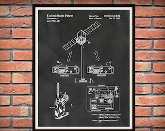 Patent AN/PRC-117F/G Army/Navy Portable Communications Radio - Soldier Wall Art - Army - Navy Wall Art - Military Combat Radio - Harris RF