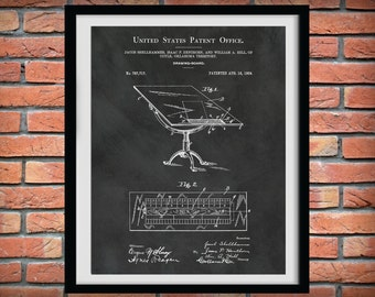 Patent 1904 Drawing Board - Drafting Board - Art Print - Poster - Engineering Drafting Board - Mechanical Drawing Board