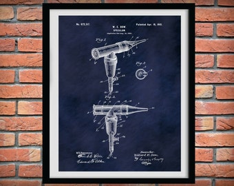 1901 Otoscope Patent Print - Otoscope Poster - Doctors Office Decor - Otologist Gift  - ENT Doctor Office Decor - Medical Student Gift