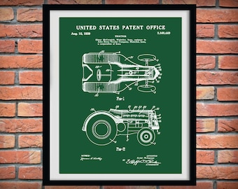 Manuals Industrial Ford Tractor Poster 1932-1986