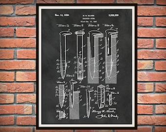 1947 Railroad Spike Patent Print - Locomotive Decor - Railway Station Decor - Railroad Decor - Train Collector Gift