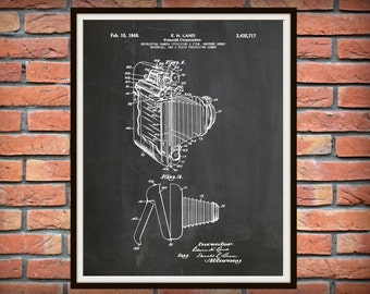 1948 Polaroid Land Camera Patent - Art Print - Poster Print - Wall Art - Photography Patent - Photographic - Photographer Wall Art