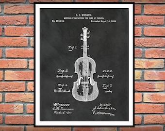 1888 Violin Patent Print - Violin Poster Print - Music Room Decor - Symphonic Orchestra Decor - Violinist Gift Idea - Music Student Gift
