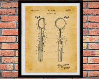 1931 Ice Cream Scoop Patent Print, Ice Cream Shop Decor, Ice Cream Scoop Blueprint, Ice Cream Lover Gift Idea, Ice Cream Invention