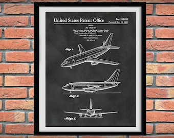 Boeing 737 Patent Print, 1966 Boeing 737 Airplane Drawing, Aviation Art, Boeing Airplane poster, Boeing 737 Blueprint, Pilot gift
