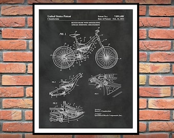 Mountain Bike Patent Print - 2011 Mountain Bike Poster - Bicycle Blueprint - Specialized Mountain Bike - Cyclist Gift Idea
