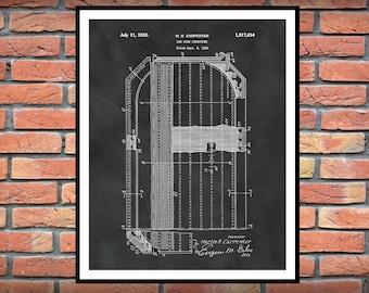 Ice Hockey Rink Patent Print - 1933 Ice Rink Design - Hockey Art Print - Hockey Player Decor - Hockey Poster - Hockey Gift - Hockey Patent