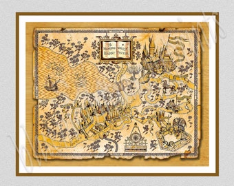 Hogwarts Map, Harry Potter Map, Hufflepuff, Harry Potter Wizarding World, Hogwarts castle, Marauders Map, Hogwarts School of Witchcraft