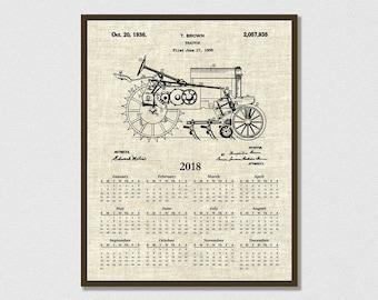 2018 Calendar 1935 John Deere B Tractor - Art Print or Poster - Wall Art - Agriculture Art - Farming - Farm Equipment Patent -  Farm Decor