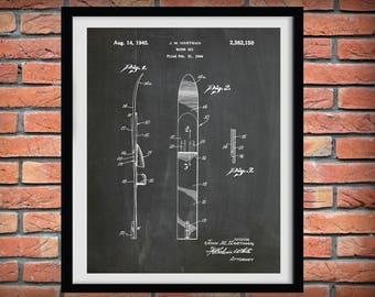 1945 Water Ski Patent Print  - Water Ski Blueprint - Nautical Decor - Water Skis Patent Art - Water Skiing Apparatus
