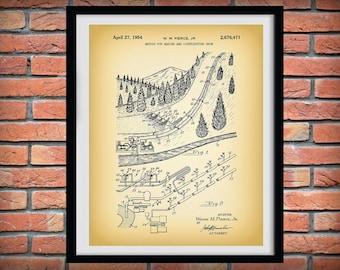 1954 Snow Making Patent Print  - Snow Ski Blueprint - Winter Sports Decor - Snow Skier Gift - Ski Resort Decor - Snow Boarder Gift