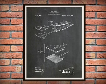 1909 Hair Straightener Patent Print - Flat Iron Poster - Barber Shop Decor - Hair Salon Decor - Hairdresser Gift Idea - Beauty Shop Decor
