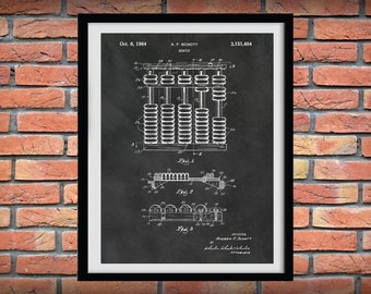 Abacus Patent Print - Abacus Poster - Vintage Adding Machine - Accountant Gift - Bookkeeping Instrument - CPA Gift - Accounting Decor