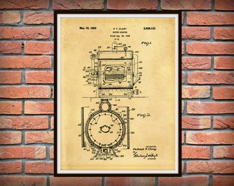 Patent 1949 Coffee Roaster - Wall Art Print - Kitchen Art- Poster - Restaurant Wall Art - Housewares - Coffee Shop Wall Art - Barista Art
