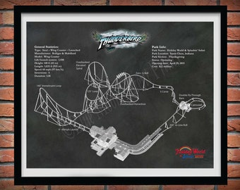 Thunderbird Roller Coaster Drawing, Holiday World & Splashin Safari Roller Coaster, Thunderbird Roller Coaster Blueprint,Roller Coaster Geek