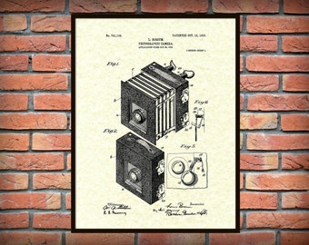 1903 Photographic Camera Patent Print - Vintage Camera Poster - Photography Wall Art - Lithography - Photographer Gift Idea