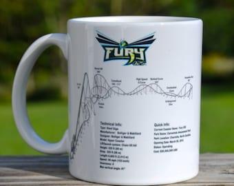 Fury Roller Coaster MUG - Roller Coaster Geek Mug Gift Idea - Fury Roller Coaster Pencil Holder Mug,