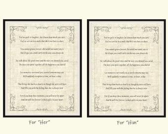 Feel No Guilt In Laughter Poem Art Print, From The Heart Inspirational Poem, Mourning Poem Wall Art, Grief Poem, Funeral Poem