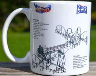 Banshee Roller Coaster MUG - Roller Coaster Geek Mug Gift Idea - Banshee Roller Coaster Pencil Holder Mug,