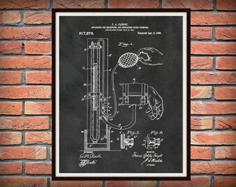 1909 Blood Pressure Cuff Patent Print - BP Cuff Poster - Doctors Office Decor - Physician Office Decor - Nurse Art - EMT Gift Idea
