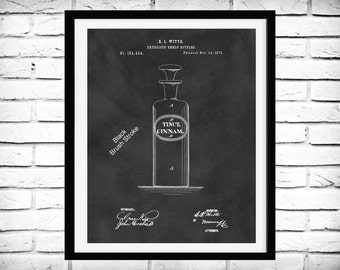 Patent 1876 Druggist Bottle - Medicine Bottle -  Art Print - Poster - Medical - Pharmacy Bottle - Antique Druggists Bottle - Drug Medicine