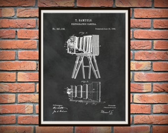Patent 1885 Camera Designed by Thomas Samuel - Art Print - Poster Print - Wall Art - Photography - Photographic Equipment - Antique Camera