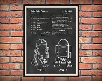 1979 Star Wars R2D2 Patent Print - Star Wars Poster Print - R2D2 Poster - Star Wars Collector Gift Idea - R2D2 Droid Art Print