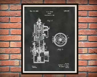 1925 Fire Hydrant Patent Print - Poster - Firehouse Decor - Firefighter - Fire and Rescue Decor - Fireman Gift Idea - Fire Fighter Gift Idea