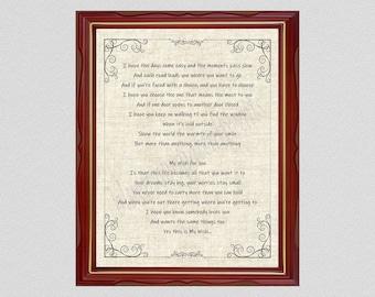 My Wish For You Lyrics Art Print, Rascal Flatts Song Lyrics Poster, From The Heart Inspirational Poem, Childs Room Decor, Birthday Gift Idea