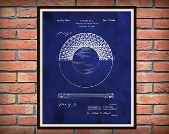 Patent 1944 Poker Chip - Art Print - Wall Art - Game Room Art - Gambling Chips -  Gambling Casino Cards - Casino Art