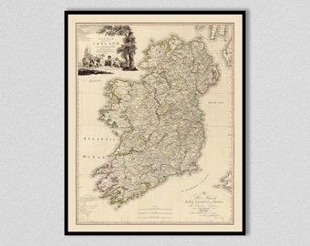 1797 Ireland Map - Map Decor - Irish Decor - Ireland Decor - 1797 Ireland Map Poster - Ireland Art - Irish History Decor