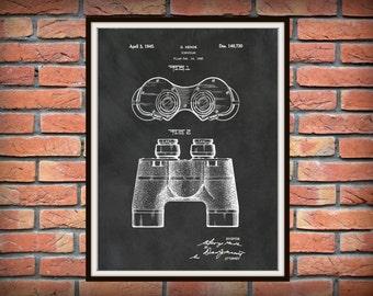 Patent 1945 Binocular - Art Print - Poster Print - Wall Art - Bird Watcher Tools - Magnifier - Binoculars