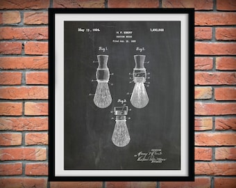 1924 Shaving Brush Patent Print - Bathroom Decor - Shaving Poster - Barber Shop Decor - Barber Gift Idea