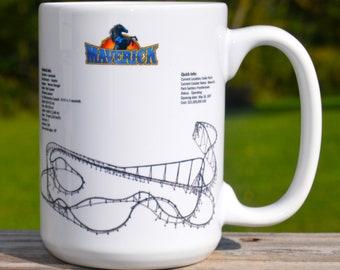 Maverick Roller Coaster MUG - Roller Coaster Geek Mug Gift Idea - Maverick Roller Coaster Pencil Holder Mug,