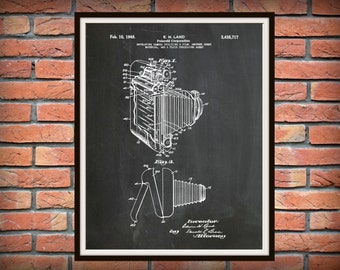 1948 Polaroid Land Camera Patent - Art Print - Poster Print - Wall Art - Photography Patent - Photographic - Photographer Wall Art