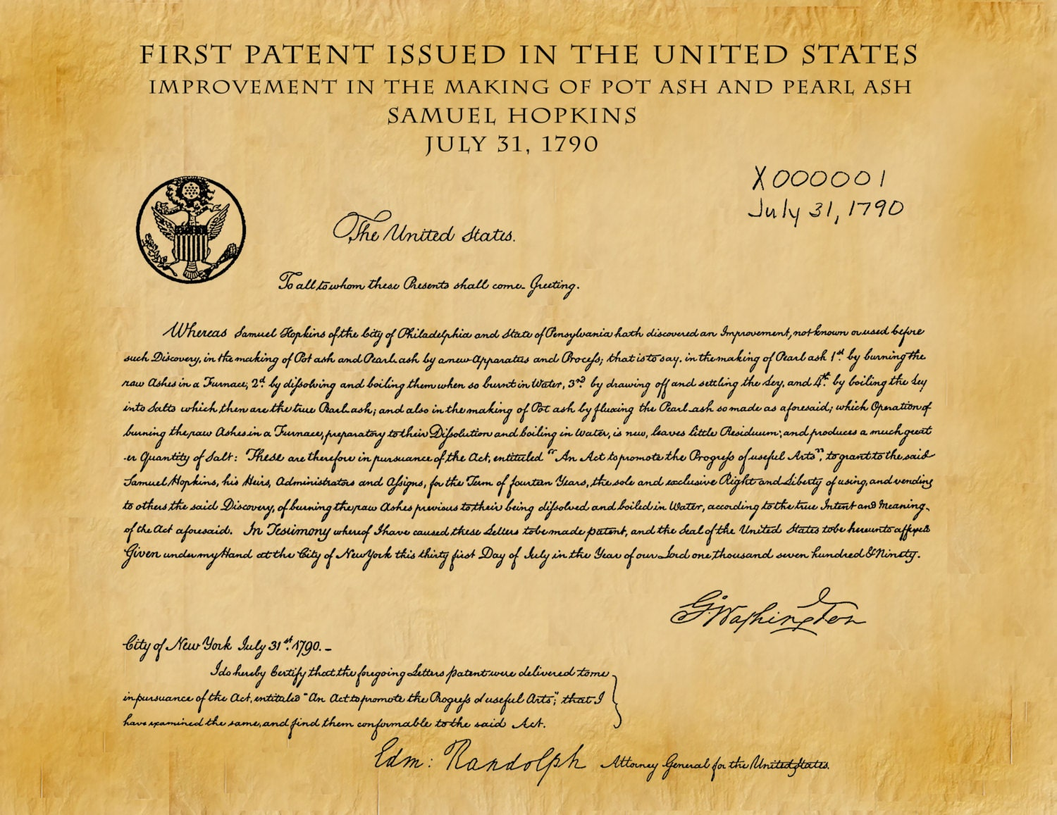 Image result for first US patent