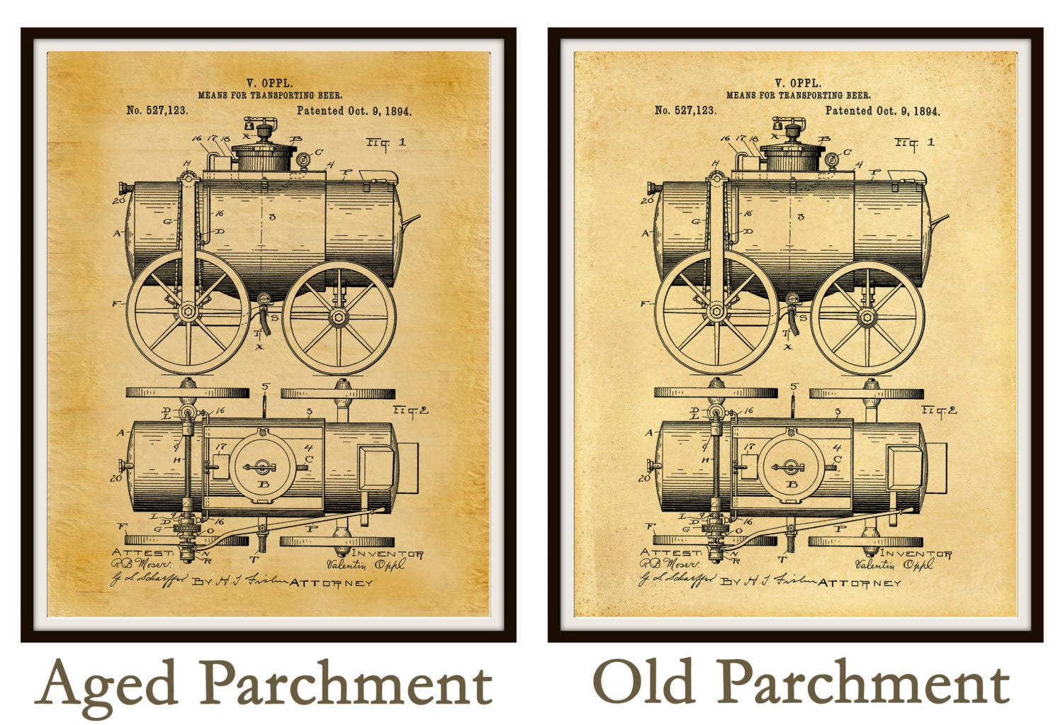 Patent 1894 Beer Wagon - Art Print Poster - Wall Art - Bar Room ...