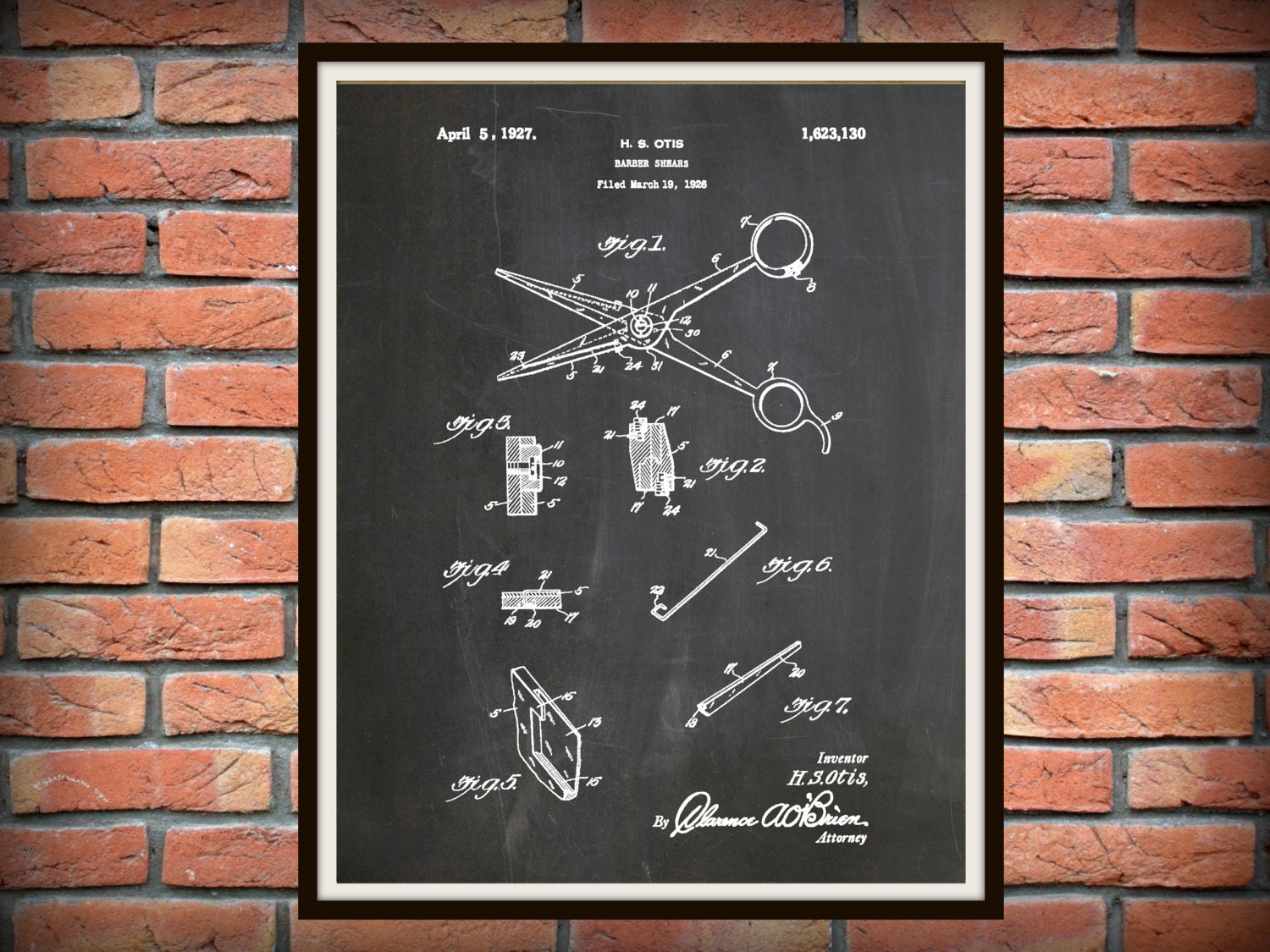 Patent 1927 barber shears art print poster barber shop shears patent 1927 barber shears art print poster barber shop shears hair salon scissor hairdresser art beautician art beauty shop art malvernweather Images
