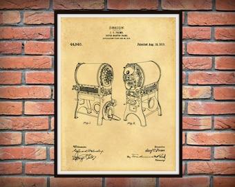 1913 Coffee Roaster Patent Print - Coffee Roaster Poster - Kitchen Decor - Coffee Shop Decor - Barista Gift Idea - Coffee Lover Gift Idea