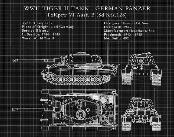 WW2 German Tiger Tank Tank PzKpfw VI Afrika Poster Print