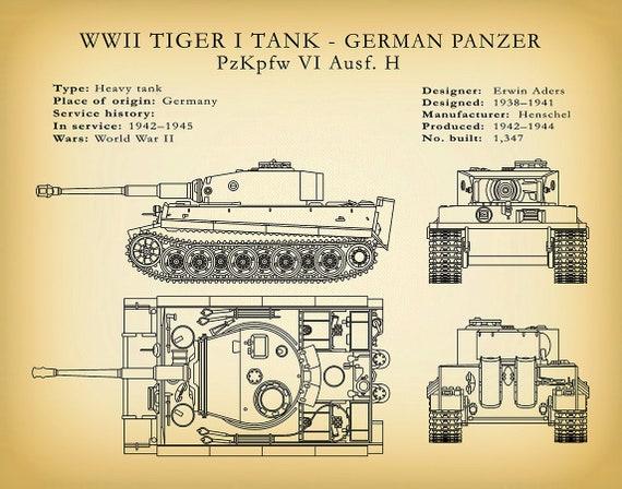 M4 Sherman Tank Poster WW2 Cross Section  Multiple Sizes 11x17-24x36