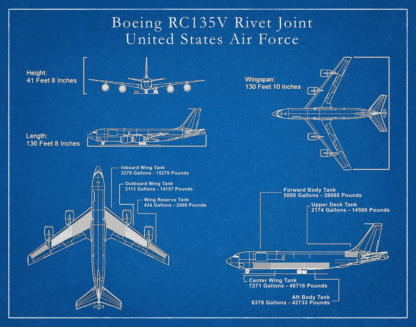 Boeing RC135V Rivet Joint United States Air Force Reconnaissance
