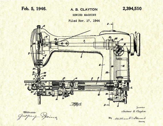 Patent For Sewing Machine