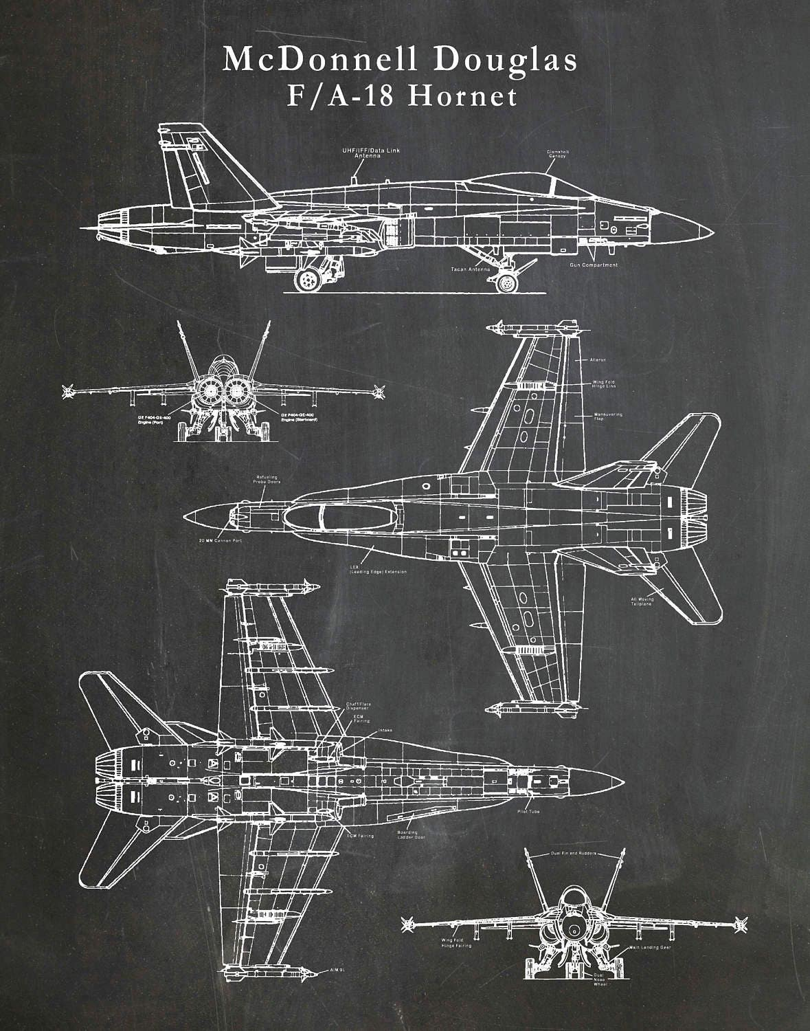 F18 Jet Engine Diagram Wiring Data Oreo Of F 18 Hornet Patent Drawing Print Bomber Plane Mcdonnell Douglas Blue