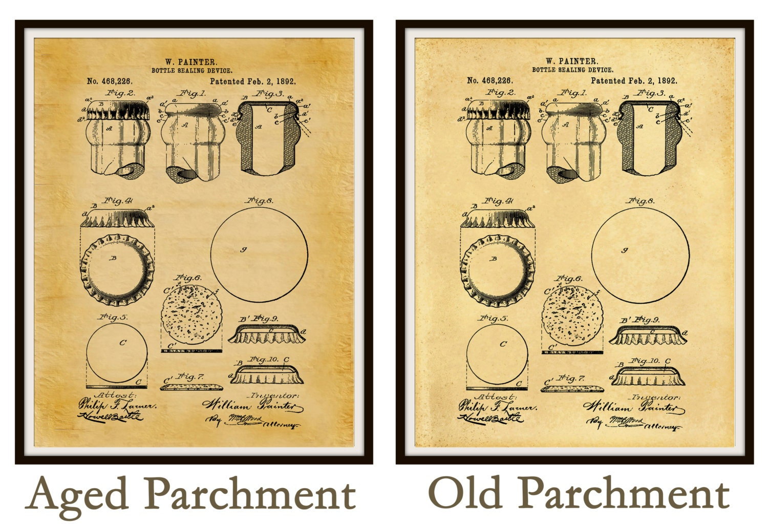 Patent 1892 Beer Bottle Sealer Device - Art Print Poster - Wall Art ...