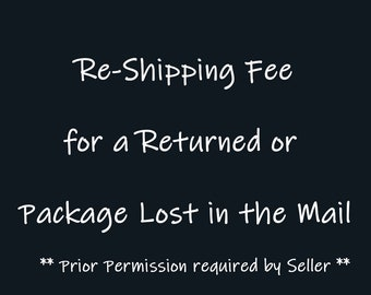 Package Re-shipping Charge First Class Mail Mail - US Domestic Shipments Only