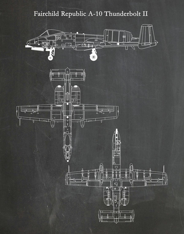 Fairchild Republic A-10 Thunderbolt II Drawing, A-10 Warthog ... on