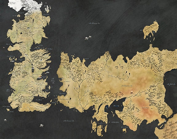 Game of Thrones Map, Westeros Map, Winterfell Map, GOT Map, Map of Game Of Thrones Map Essos on