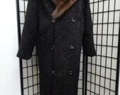 Refurbished New Black Persian Lamb Astrakhan Mink Fur Coat Men Man