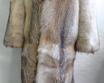Brand new natural coyote double sided fur long full length coat men man  size all custom made a90473cb1